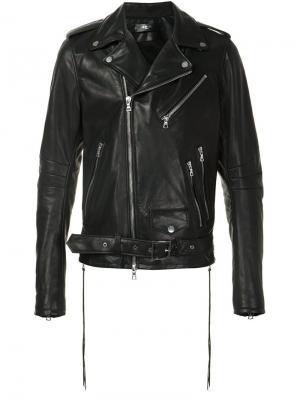 Байкерская куртка Perfecto Amiri. Цвет: чёрный