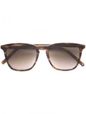 Солнцезащитные очки в квадратной оправе Tomas Maier Eyewear. Цвет: коричневый