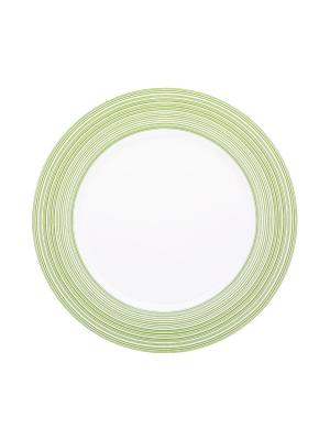 Набор тарелок обеденных 23 см ВИРПУЛ ГРИН 6 шт Miolla. Цвет: белый, зеленый