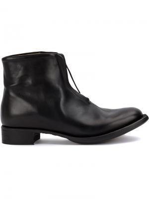 Ботинки на молнии Cherevichkiotvichki. Цвет: чёрный