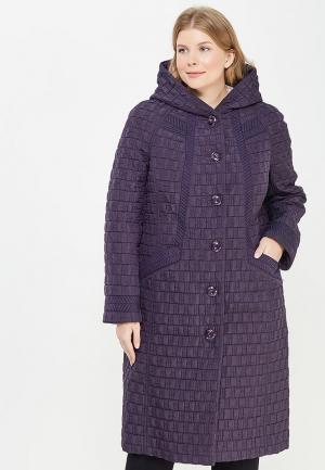 Пальто Brillare. Цвет: фиолетовый