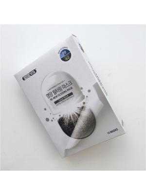 Набор обновляющих тканевых масок-фильтр с витамином В и черной икрой Re-New (10 шт) Frienvita. Цвет: белый