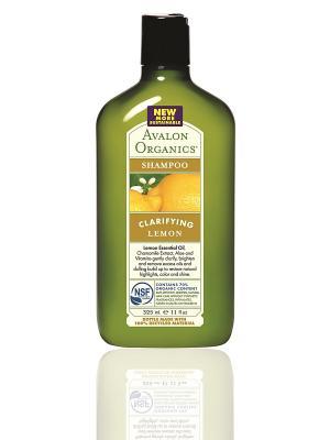 Лимонный шампунь для здорового блеска волос, 325 мл Avalon Organics. Цвет: прозрачный