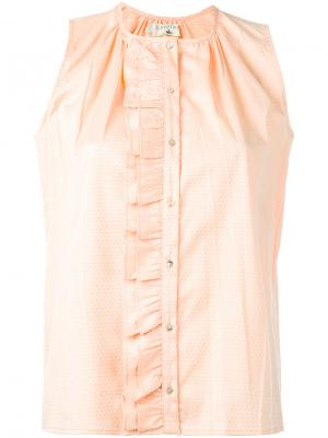 Рубашка с рюшами Cotélac. Цвет: розовый и фиолетовый