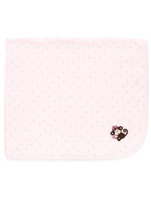 Одеяло Милая манки Little Me. Цвет: розовый