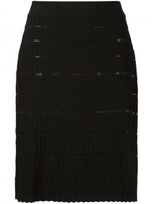 Юбка с блочным узором Maison Ullens. Цвет: чёрный