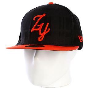 Бейсболка New Era  Camden Yards Fitted NewEra Black Zoo York. Цвет: черный,оранжевый