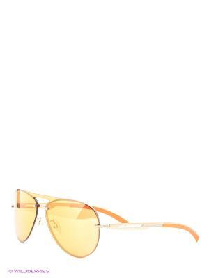 Очки солнцезащитные BK 684S 02 Bikkembergs. Цвет: оранжевый