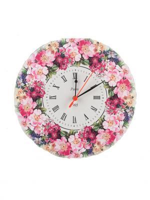 Часы настенные NeKi. Цвет: оранжевый, кремовый, белый