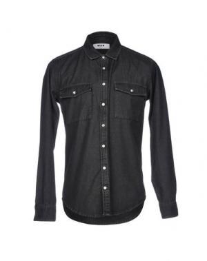 Джинсовая рубашка MSGM. Цвет: стальной серый