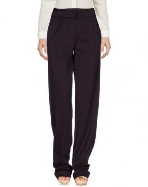 Повседневные брюки PINKO UNIQUENESS. Цвет: баклажанный