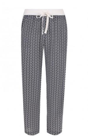 Укороченные брюки из вискозы с принтом Deha. Цвет: синий