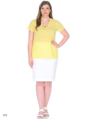 Блуза Нежность BlagoF. Цвет: желтый