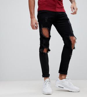 Brooklyn Supply Co. Состаренные джинсы скинни Co. Цвет: синий