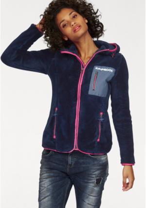 Флисовая куртка Kangaroos. Цвет: темно-синий/ярко-розовый, черный/серый