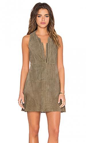 Платье с молнией спереди Hoss Intropia. Цвет: серо-коричневый