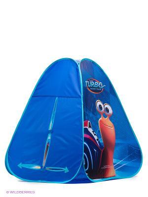 Палатка ТУРБО Игралли. Цвет: синий, голубой, оранжевый