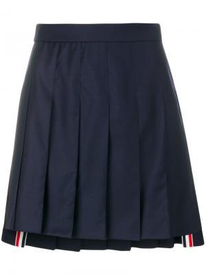 Плиссированная юбка Super 130 Thom Browne. Цвет: синий