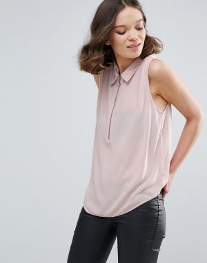 MbyM Рубашка без рукавов. Цвет: розовый