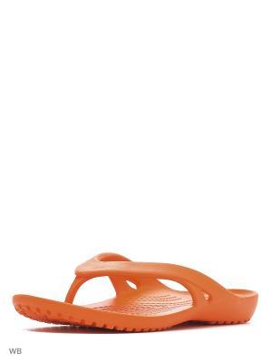 Шлепанцы CROCS. Цвет: оранжевый