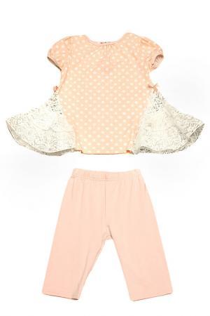 Комплект: футболка, бриджи Kidly. Цвет: персиковый
