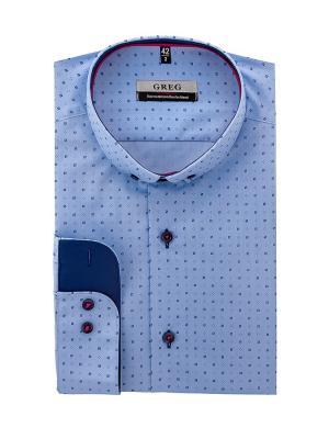 Рубашки GREG. Цвет: голубой