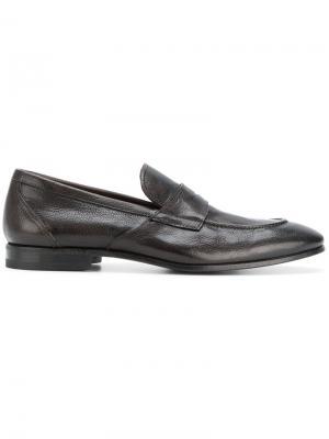 Лоферы с заостренным носком Henderson Baracco. Цвет: коричневый