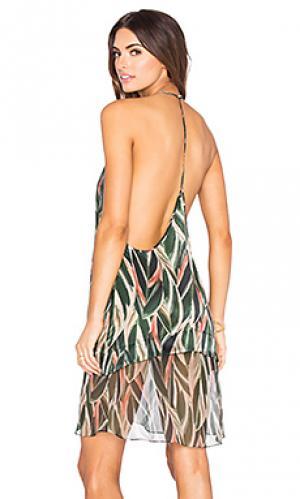Мини платье araruta ADRIANA DEGREAS. Цвет: зеленый