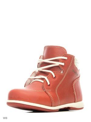 Ботинки Детский скороход. Цвет: красный