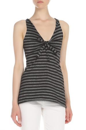 Блузка Ikiler. Цвет: черный, серебряный