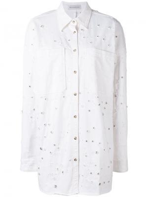 Destroyed denim shirt Faith Connexion. Цвет: белый