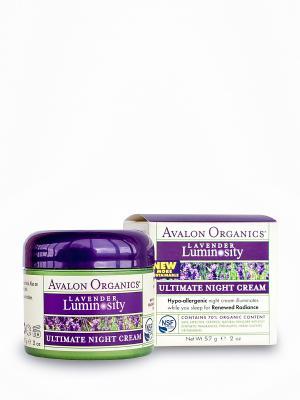 Ночной Восстанавливающий крем, 57 мл. Avalon Organics. Цвет: белый