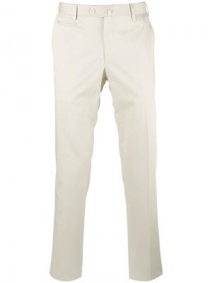 Классические брюки-чинос Corneliani. Цвет: телесный