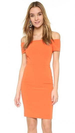 Облегающее платье с открытыми плечами Aleah alice + olivia. Цвет: мандариновый