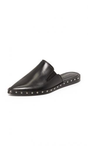 Туфли без задника с заклепками Jenni Kayne. Цвет: голубой