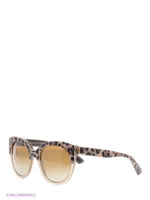 Очки солнцезащитные DOLCE & GABBANA. Цвет: светло-коричневый