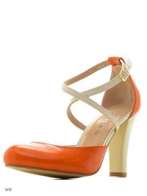 Туфли GARRO. Цвет: молочный, оранжевый