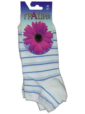 Носки женские М 1013 Грация. Цвет: белый, синий, голубой