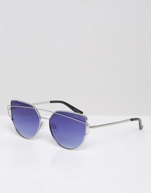 Black Phoenix Солнцезащитные очки с зеркальными стеклами. Цвет: серебряный