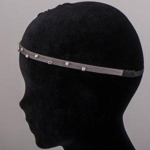 Ободок-резинка для волос, арт. 08 623 Бусики-Колечки. Цвет: серый