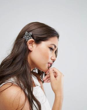 ASOS Расческа для волос в винтажном стиле. Цвет: серебряный