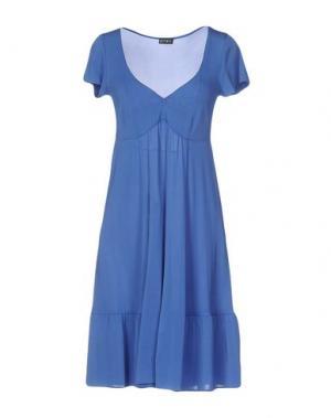 Короткое платье PF PAOLA FRANI. Цвет: синий