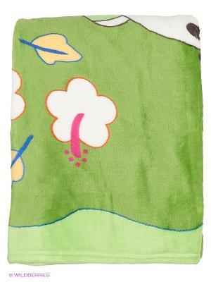 Плед детский с рисунком Наша Мама. Цвет: салатовый