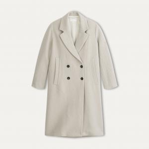 Пальто длинное женское POMANDERE. Цвет: экрю