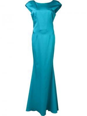 Вечернее платье Irina Zac Posen. Цвет: синий