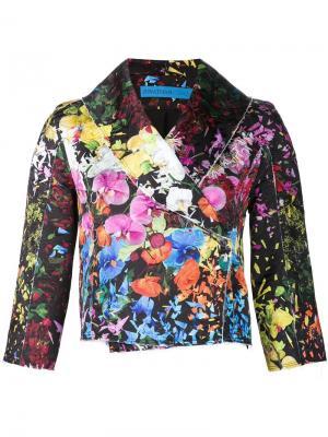 Floral brocade crop jacket Jonathan Cohen. Цвет: чёрный