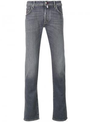 Выбеленные джинсы Jacob Cohen. Цвет: серый