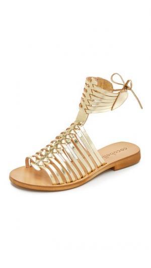 Гладиаторские сандалии Ibiza Cocobelle. Цвет: коричневый