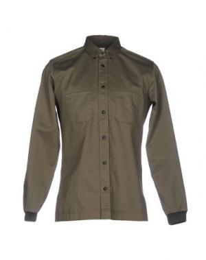 Джинсовая рубашка COVERT. Цвет: зеленый-милитари