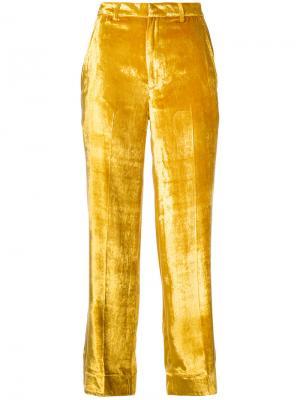 Укороченные брюки Tome. Цвет: жёлтый и оранжевый